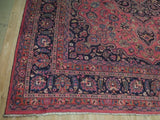 10x12 Authentic Hand Knotted Semi-Antique Persian Mashad Rug - Iran