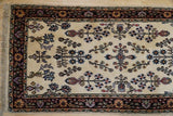 Harooni Rugs - Dazzling 3x16 Authentic Hand Knotted Traditional Floral Sarouk Runner - India