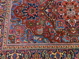 6x10 Authentic Hand Knotted Persian Heriz Rug - Iran