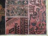 Harooni Rugs - Premium 6x9 Authentic Handmade Antique Persian Patchwork Rug - Iran