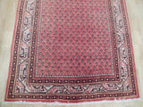 4x10 Authentic Hand Knotted Persian Sarouk Mir Runner - Iran