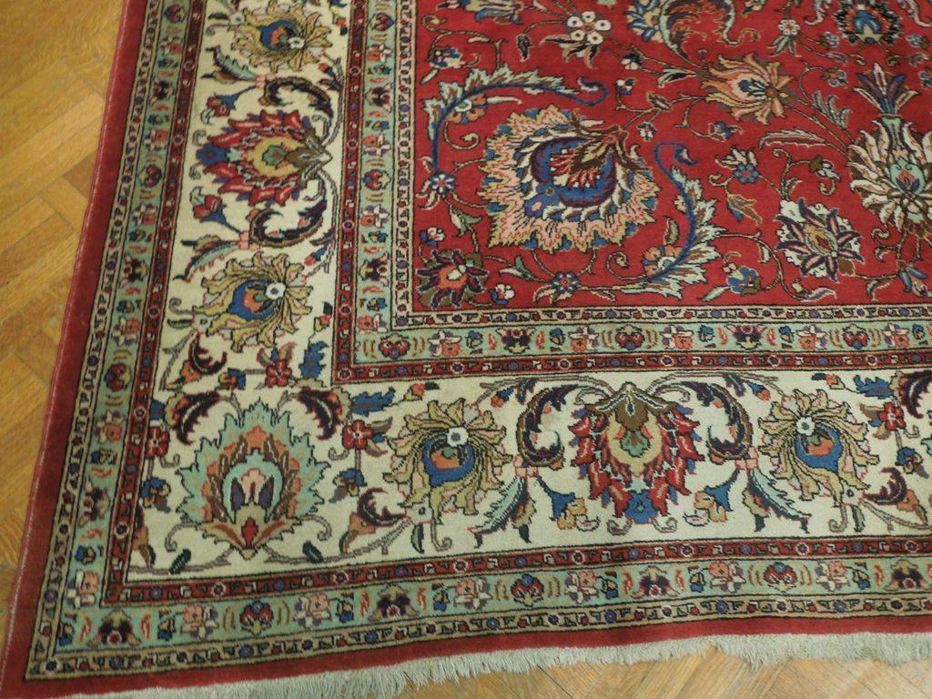 11x14 Authentic Hand Knotted Semi-Antique Persian Tabriz Rug - Iran - bestrugplace