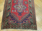 3x16 Authentic Hand-Knotted semi-Antique Persian Runner Rug - Iran