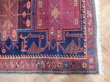 Authentic Hand-Knotted 3x9 Persian Hamadan Runner - Traditional