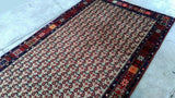 5x10 Authentic Hand Knotted Persian Hamadan Rug - Iran