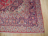 10x13 Authentic Hand Knotted Semi-Antique Persian Kashan Rug - Iran
