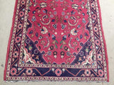 3x10 Authentic Hand Knotted Semi-Antique Persian Kashan Runner - Iran