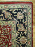 Harooni Rugs - Dazzling 9x13 Authentic Hand-Knotted Jaipur Rug - India