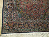 5x7 Authentic Hand-Knotted Antique Persian Kashan Rug - Iran