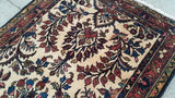 3x16 Authentic Hand Knotted Persian Hamadan Rug - Iran