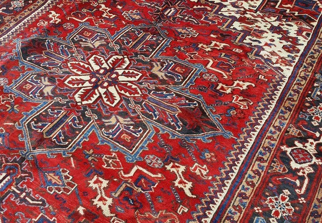 8x10 Authentic Hand Knotted Persian Heriz Rug - Iran