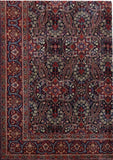 Harooni Rugs - Vintage 10x14 Authentic Hand-knotted Persian Signed Moud Rug - Iran