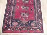 4x13 Authentic Hand Knotted Semi-Antique Persian Hamadan Runner - Iran