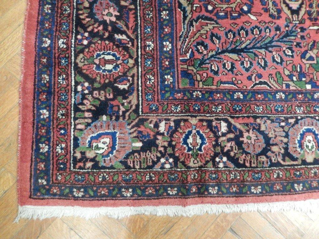 9x12 Authentic Hand Knotted Semi-Antique Persian Sarouk Rug - Iran - bestrugplace