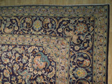 10x15 Authentic Hand Knotted Semi-Antique Persian Kashan Rug - Iran