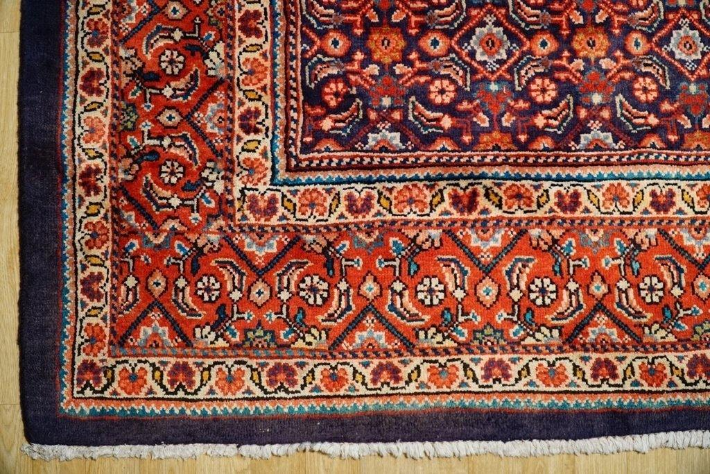 10x13 Authentic Hand Knotted Semi-Antique Persian Herati Rug - Iran