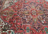 8x12 Authentic Hand Knotted Persian Heriz Rug - Iran