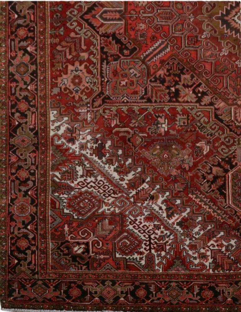 12x14 Authentic Hand-knotted Persian Heriz Rug - Iran 82257 - bestrugplace