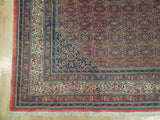 Authentic Hand-Knotted 7x10 Fine Persian Bijar Rug - Traditional