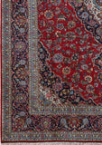 8x11 Authentic Hand-knotted Persian Signed Kashan Rug - Iran