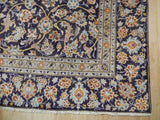 9x13 Authentic Hand Knotted Semi-Antique Persian Kashan Rug - Iran