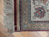 2x3 Authentic Hand Knotted Wool & Silk Persian Kilim Rug - Iran
