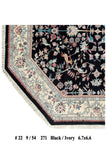 Harooni Rugs - Dazzling 7x7 Authentic Handmade Hunting Rug - India