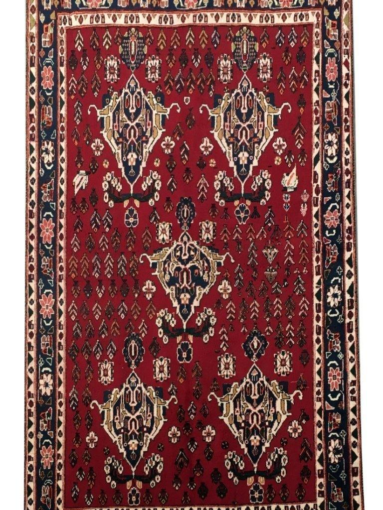 5x7 Authentic Hand-knotted Persian Sirjan Rug - Iran