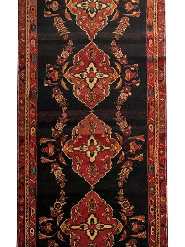 5x13 Authentic Hand-knotted Persian Hamadan Rug - Iran