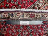 7x11 Authentic Hand Knotted Semi-Antique Persian Sarouk Rug - Iran