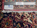 10x13 Authentic Handmade Semi-Antique Persian Kashan Rug - Iran