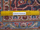 Harooni Rugs - Vintage 8x12 Authentic Hand-knotted Persian Signed Kashan Rug - Iran