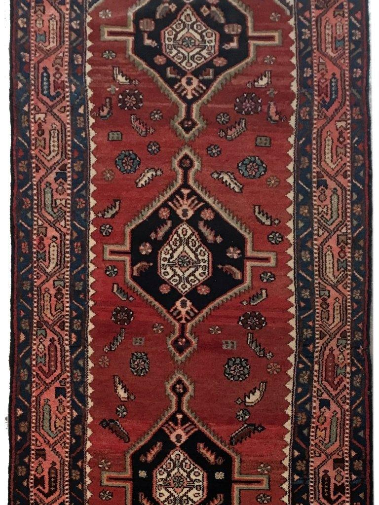 4x11 Authentic Hand-knotted Persian Hamadan Rug - Iran
