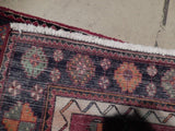 4x10 Authentic Hand Knotted Semi-Antique Persian Hamadan Runner - Iran