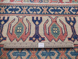 4x10 Authentic Hand Knotted Kazak Rug - Pakistan