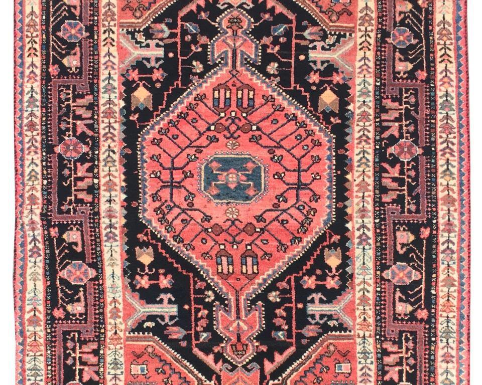 4x6 Authentic Hand-knotted Persian Hamadan Rug - Iran - bestrugplace