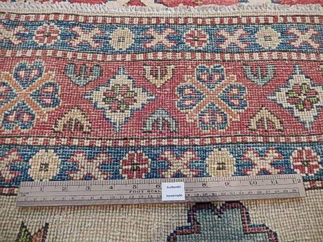 Radiant 5x6 Authentic Hand Knotted Kazak Rug - Pakistan