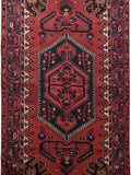 4x8 Authentic Hand-knotted Persian Hamadan Rug - Iran