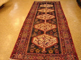 4x10 Authentic Hand-Knotted Persian Afshar Runner - Iran