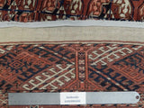 4x6 Authentic Handmade Turkman Persian Bokhara Rug - Iran