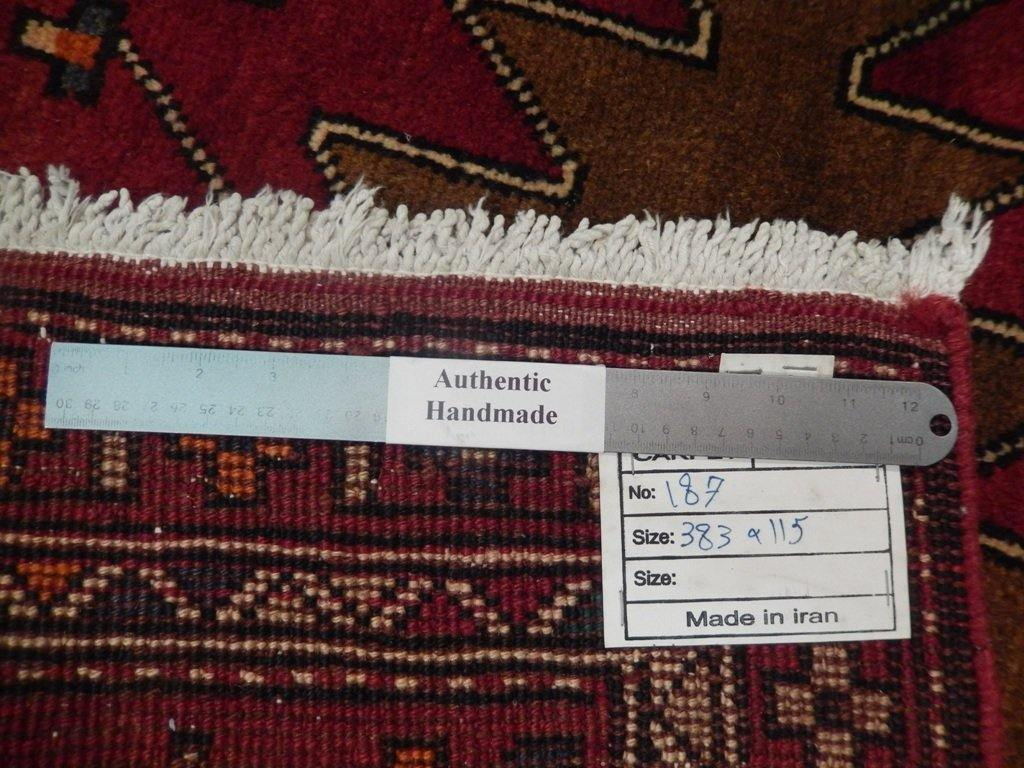 4x13 Authentic Handmade Semi-Antique Persian Hamadan Runner - Iran - bestrugplace