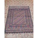Harooni Originals - 4x5 Authentic Hand Knotted Baluchi Rug - Pakistan