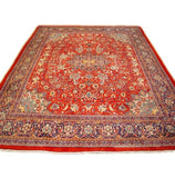 Authentic Handmade 10x13 Semi Antique Persian Sarouk Rug - Persian