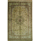 5x8 Authentic Handmade Silk Rug - China