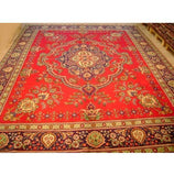 10x13 Authentic Hand Knotted Persian Sarouk Rug - Iran