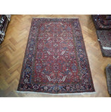 8x11 Authentic Handmade Semi-Antique Persian Heriz Rug - Iran