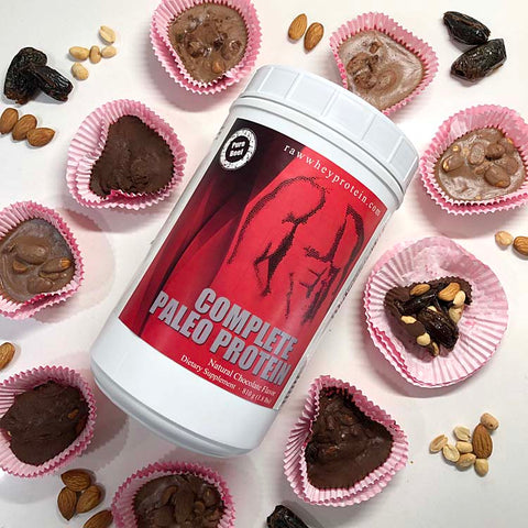 Sweet Valentines treats made with delicious chocolate Complete Paleo Protein Powder!