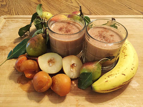 Spiced Pear Ginger Smoothie made with Creamy Vanilla Complete Whey Protein powder!