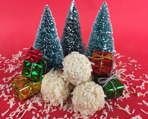 No Bake Coconut Snowballs made with Complete Whey Protein!