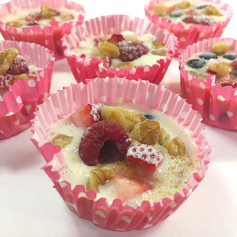 Mixed Berry Walnut Yogurt Cups